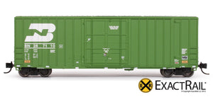 N - Gunderson 6269 High Cube Boxcar : BN - ExactRail Model Trains - 2