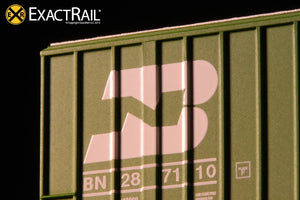 N - Gunderson 6269 High Cube Boxcar : BN - ExactRail Model Trains - 6