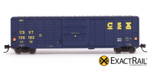 N - PS 50' Waffle Boxcar : CSXT - ExactRail Model Trains - 2