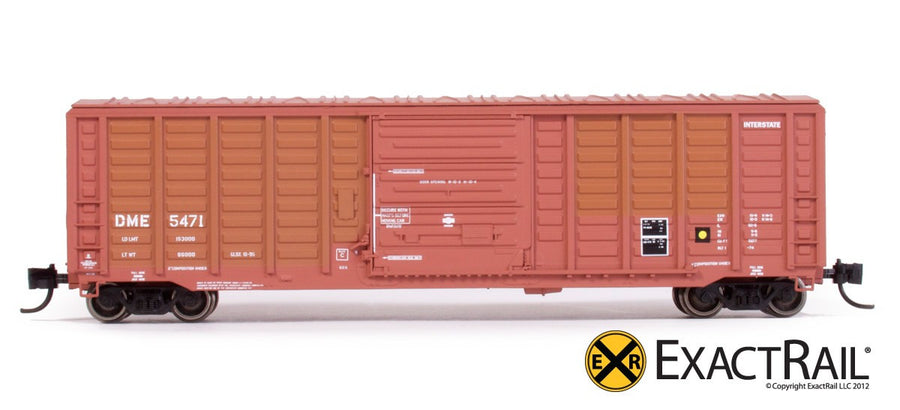 N Scale: PS 50' Waffle Boxcar - DME