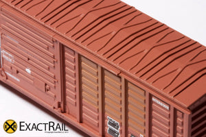 N - PS 50' Waffle Boxcar : DME - ExactRail Model Trains - 3
