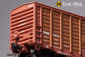 N - PS 50' Waffle Boxcar : DME - ExactRail Model Trains - 5