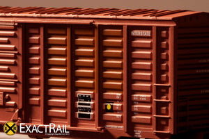 N - PS 50' Waffle Boxcar : DME - ExactRail Model Trains - 6