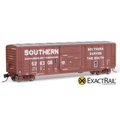 "N Scale: PS 50' Waffle Boxcar - SOU ""As Delivered"""