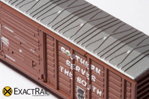 "N - PS 50' Waffle Boxcar : SOU ""As Delivered"" - ExactRail Model Trains - 3"