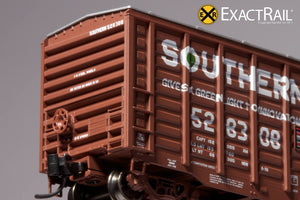 "N - PS 50' Waffle Boxcar : SOU ""As Delivered"" - ExactRail Model Trains - 5"