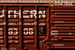"N - PS 50' Waffle Boxcar : SOU ""As Delivered"" - ExactRail Model Trains - 6"