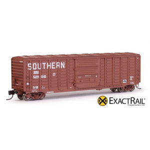 "N Scale: PS 50' Waffle Boxcar - SOU ""Claytor"" Brown"