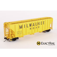X - PS-2CD 4427 Covered Hopper : MILW - ExactRail Model Trains