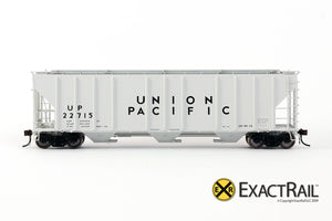 X - PS-2CD 4427 Covered Hopper : UP - ExactRail Model Trains - 3