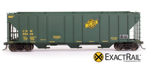 PS-2CD 4427 Covered Hopper : CNW - ExactRail Model Trains - 2