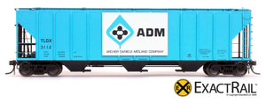 X - PS-2CD 4427 Covered Hopper : ADM - ExactRail Model Trains - 2