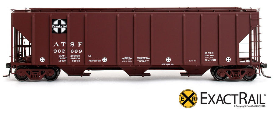 HO Scale: PS-2CD 4427 Covered Hopper - ATSF