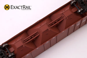 X - PS-2CD 4427 Covered Hopper : BNSF - ExactRail Model Trains - 6