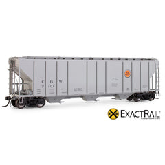 X - PS-2CD 4427 Covered Hopper : CGW - ExactRail Model Trains - 1