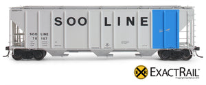 X - PS-2CD 4427 Covered Hopper : SOO - ExactRail Model Trains - 3