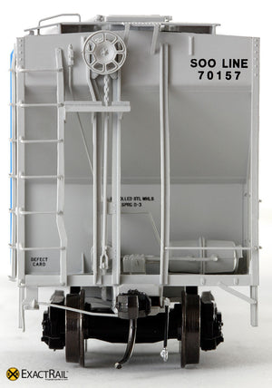 X - PS-2CD 4427 Covered Hopper : SOO - ExactRail Model Trains - 2