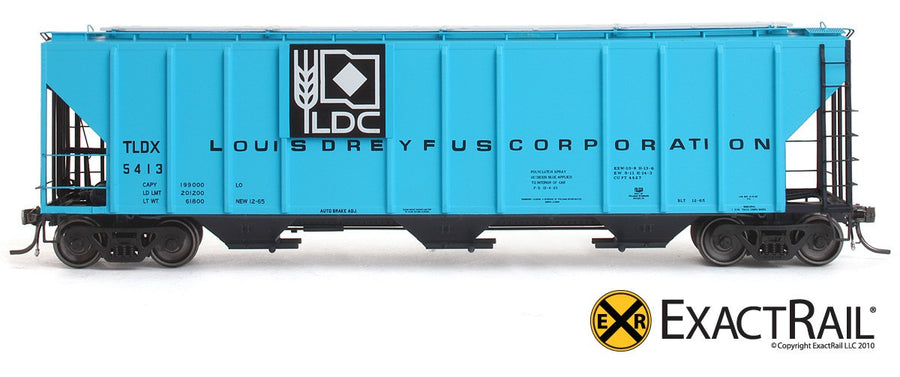 HO Scale: PS-2CD 4427 Covered Hopper - TLDX - Louis Dreyfus Co.