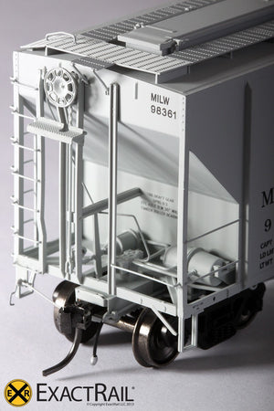 PS-2CD 4427 Covered Hopper : MILW '1965 As-Delivered' - ExactRail Model Trains - 5