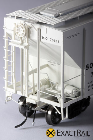 PS-2CD 4427 Covered Hopper : SOO LINE : 70151 - ExactRail Model Trains - 3
