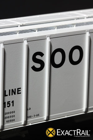PS-2CD 4427 Covered Hopper : SOO LINE : 70151 - ExactRail Model Trains - 6