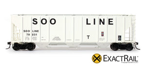 PS-2CD 4427 Covered Hopper : SOO LINE : 70231 - ExactRail Model Trains - 2