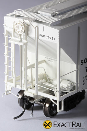 PS-2CD 4427 Covered Hopper : SOO LINE : 70231 - ExactRail Model Trains - 5