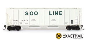 PS-2CD 4427 Covered Hopper : SOO : 70235 - ExactRail Model Trains - 2