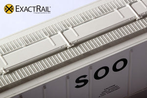 PS-2CD 4427 Covered Hopper : SOO : 70235 - ExactRail Model Trains - 3