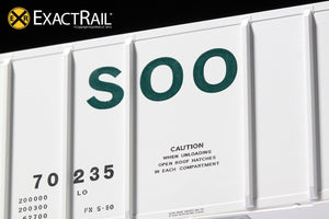 PS-2CD 4427 Covered Hopper : SOO : 70235 - ExactRail Model Trains - 6
