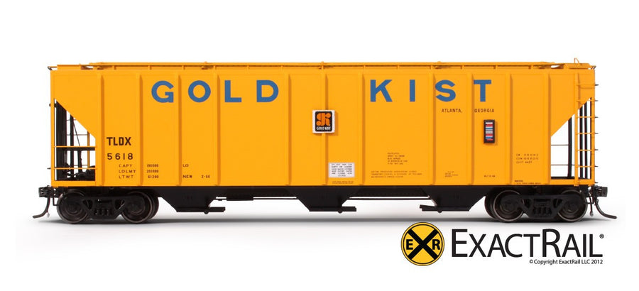 HO Scale: PS-2CD 4427 Covered Hopper - TLDX - Gold Kist