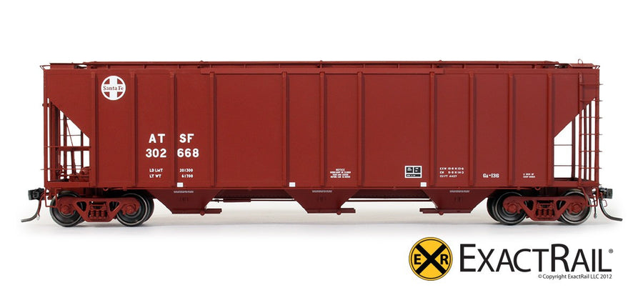 HO Scale: PS-2CD 4427 Covered Hopper - ATSF - Helvetica
