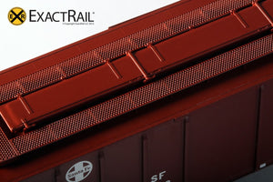 PS-2CD 4427 Covered Hopper : ATSF : Helvetica - ExactRail Model Trains - 3