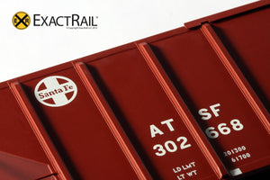 PS-2CD 4427 Covered Hopper : ATSF : Helvetica - ExactRail Model Trains - 6