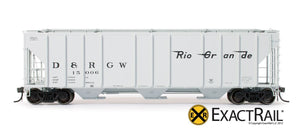 PS-2CD 4427 Covered Hopper : DRGW - ExactRail Model Trains - 2
