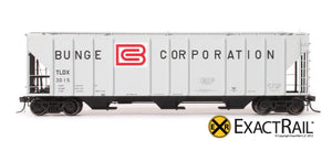 PS-2CD 4427 Covered Hopper : TLDX : Bunge - ExactRail Model Trains - 2