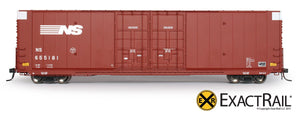 X - Greenville 60' Double Plug Door Box Car : NS - ExactRail Model Trains - 2