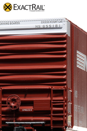 X - Greenville 60' Double Plug Door Box Car : NS - ExactRail Model Trains - 4