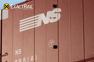 X - Greenville 60' Double Plug Door Box Car : NS - ExactRail Model Trains - 3