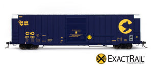 Berwick 7327 Boxcar : Chessie System : C&O - ExactRail Model Trains - 2