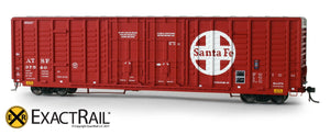 X - P-S 7315 Waffle Box Car : ATSF - ExactRail Model Trains - 7