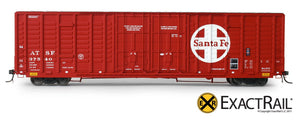 X - P-S 7315 Waffle Box Car : ATSF - ExactRail Model Trains - 2