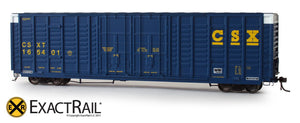 X - P-S 7315 Waffle Box Car : CSXT - ExactRail Model Trains - 3