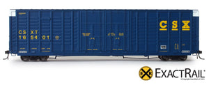 X - P-S 7315 Waffle Box Car : CSXT - ExactRail Model Trains - 2