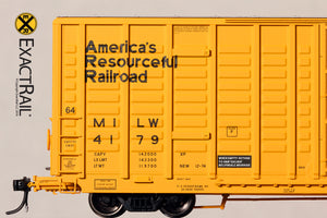 P-S 7315 Waffle Boxcar : MILW - ExactRail Model Trains - 4