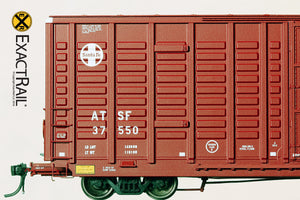 P-S 7315 Waffle Boxcar : ATSF - ExactRail Model Trains - 4