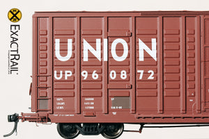 P-S 7315 Waffle Boxcar : UP - ExactRail Model Trains - 4