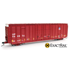 P-S 7315 Waffle Boxcar : UP : Medallion Repaint - ExactRail Model Trains - 1
