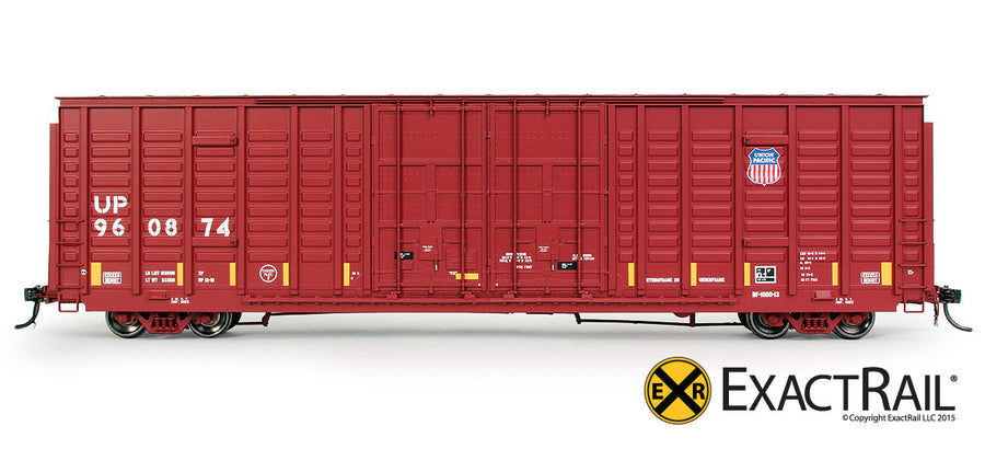 HO Scale: P-S 7315 Waffle Boxcar - UP - Medallion Repaint