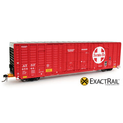 P-S 7315 Waffle Boxcar : ATSF - ExactRail Model Trains - 1